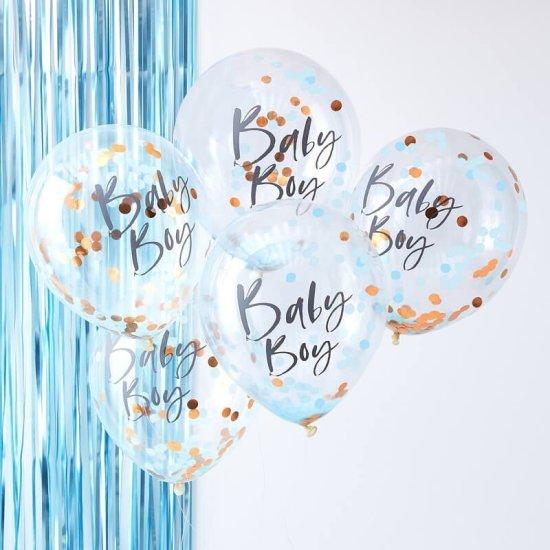 Baby Boy Konfetti Balloner Festartikler