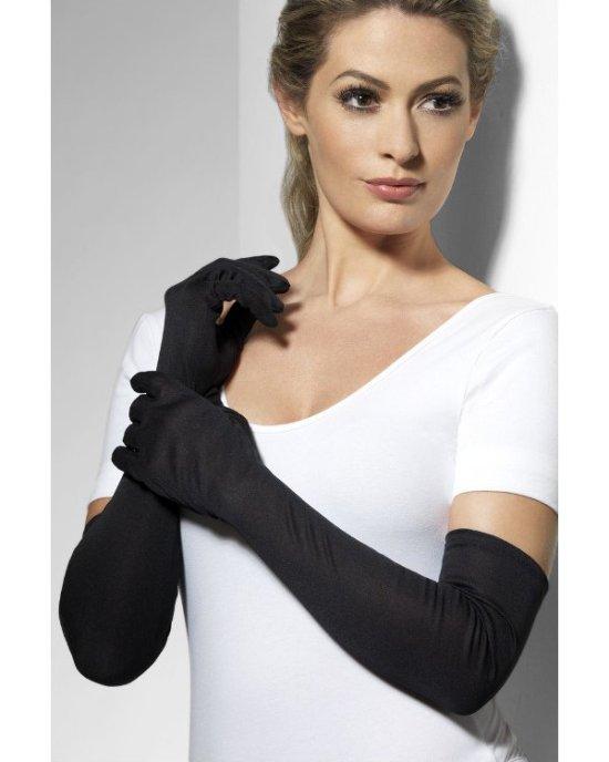 Lange sorte handsker tilbehoer