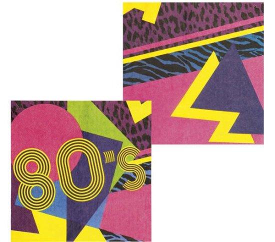 80'er Servietter Farverige Festartikler