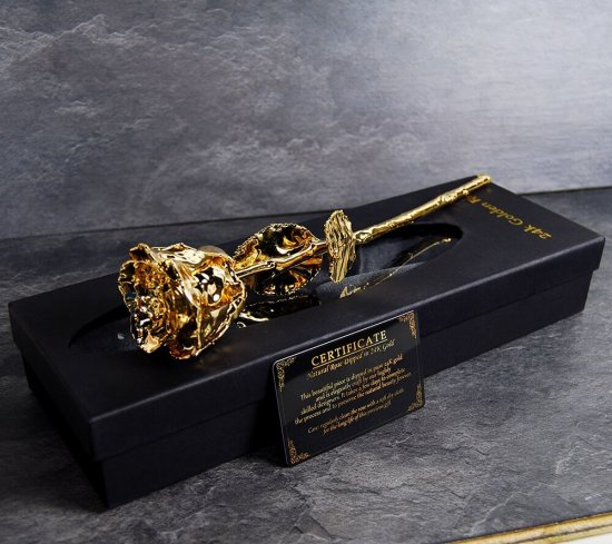 24K Guld Rose I Sort aeske Gadgets