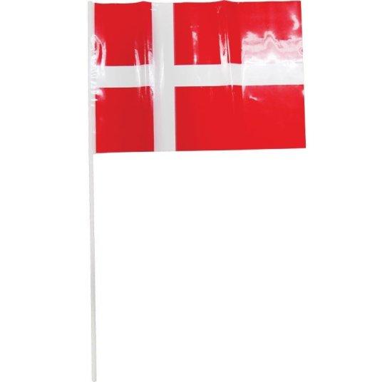 10x Plastik Foedselsdagsflag Paa Pind Festartikler