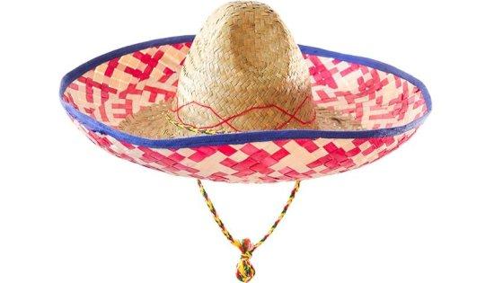 Sombrero hat, Roed/blaa Tilbehoer