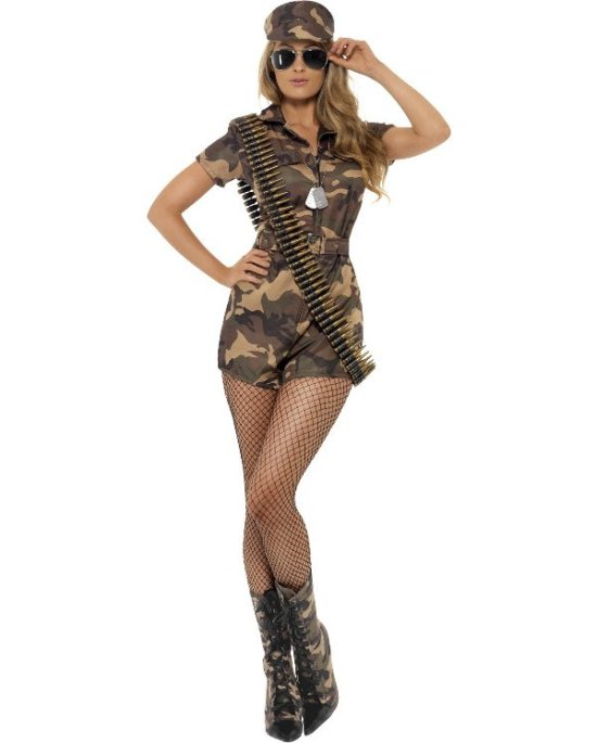 Fraek Militaerpige Kostumer