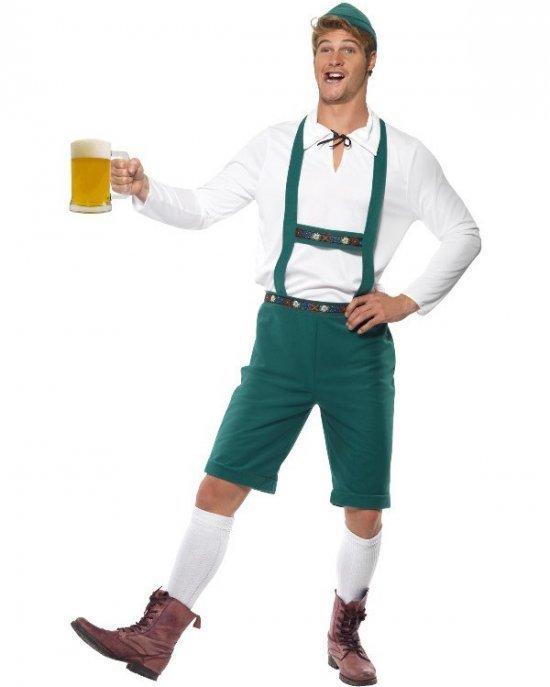 Tyrolermand, groen Kostumer