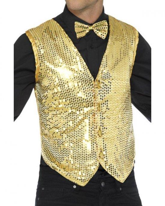 Showtime Palliet Vest, guld Kostumer