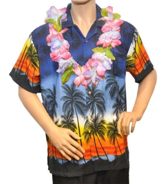 Hawaiiskjorte, moerkeblaa Kostumer