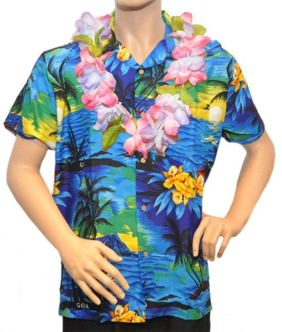 Hawaiiskjorte, marineblaa Kostumer