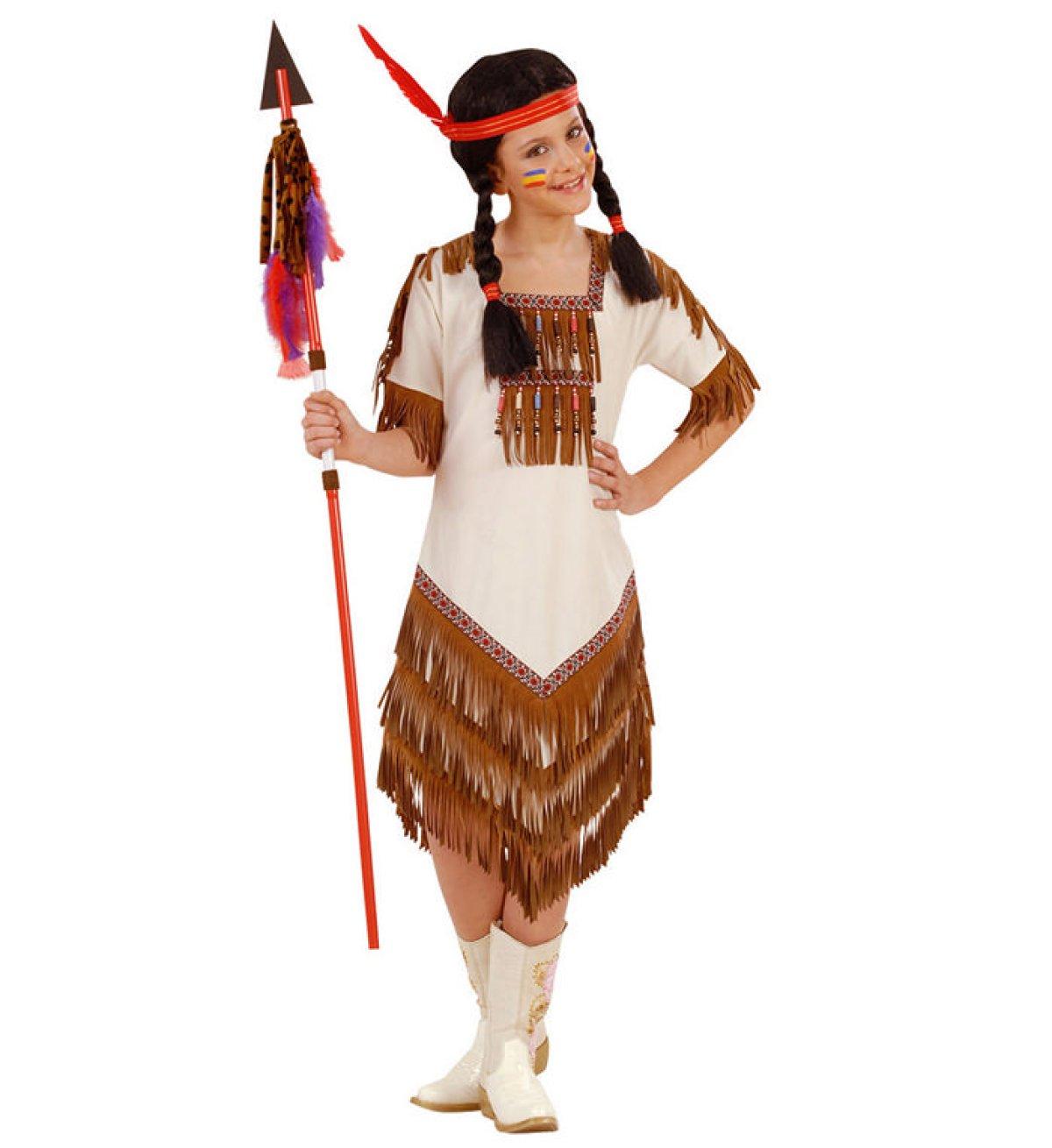 Sød Indianer Pige Børnekostume kostume